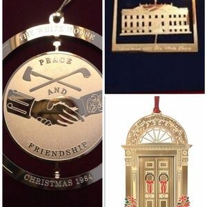 white house historical ornaments